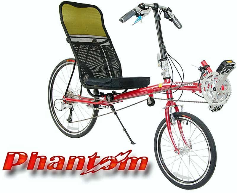 Lightning Phantom Recumbent bike in red
