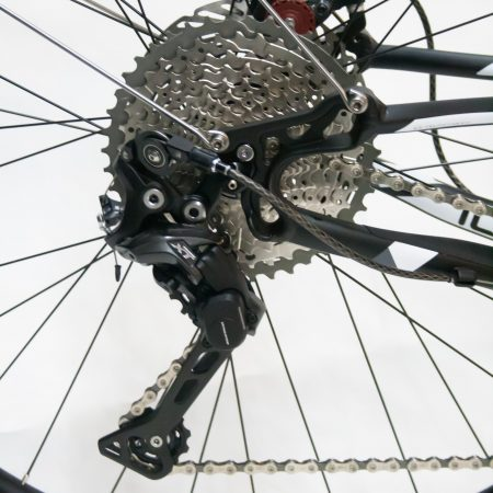 Shimano XT derailleur with Wolftooth Tanpan on an 11-42T 11 speed cassette
