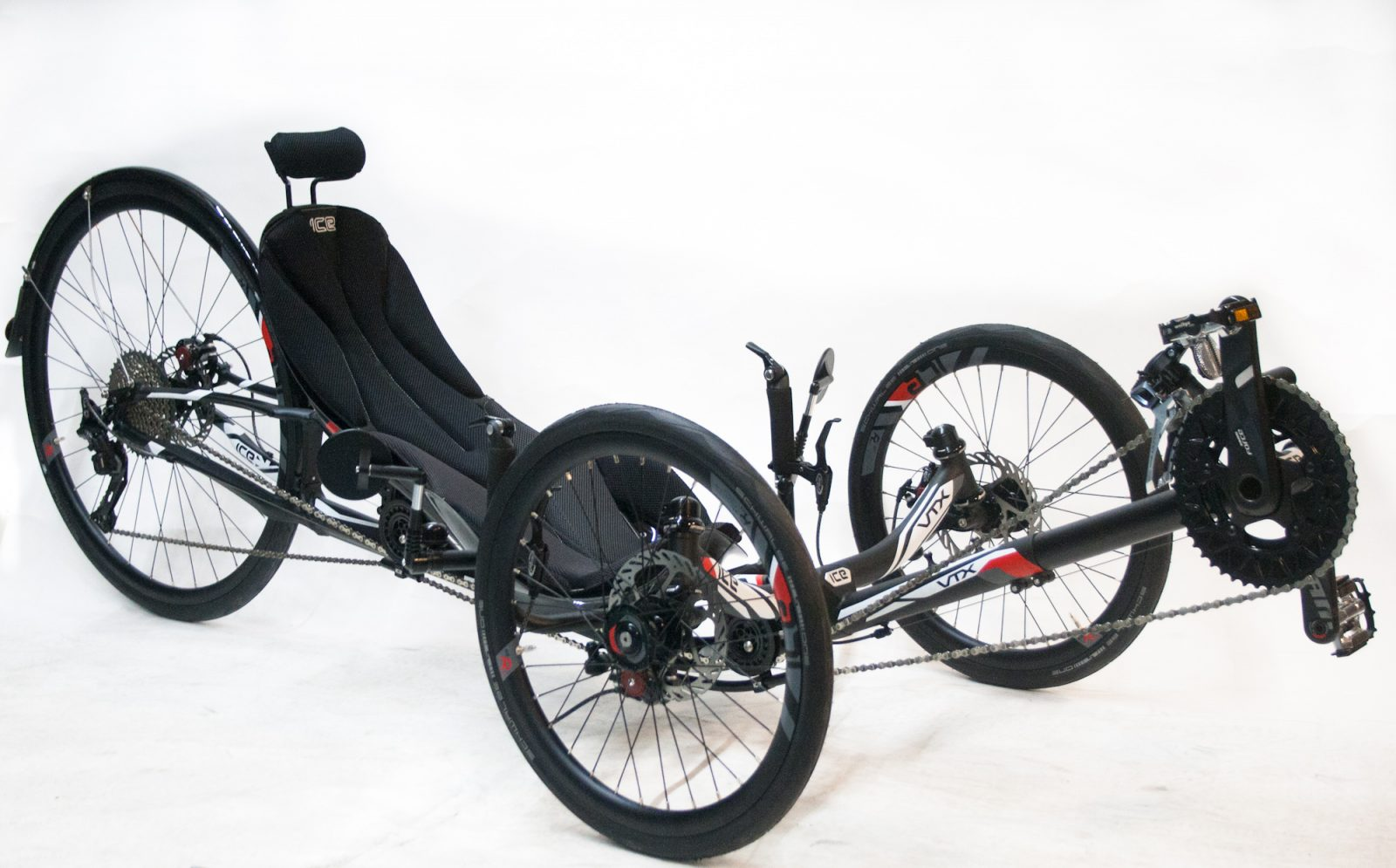 Ice VTX racing trike with headrest