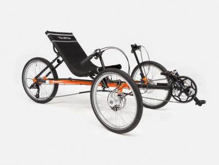 Terratrike Rambler Recumbent Trike in Orange