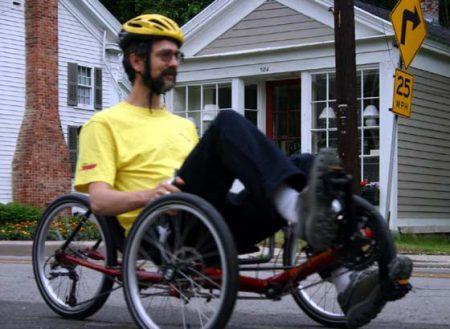 Terratrike Tour being ridden on a street