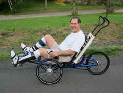 Adaptive pedals and cane holders let Gary ride again!