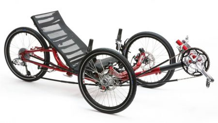 Ice Sprint Recumbent Trike in Red