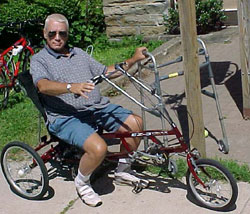 Recumbent Trikes may help you set aside the walker or wheelchair if only for a little while