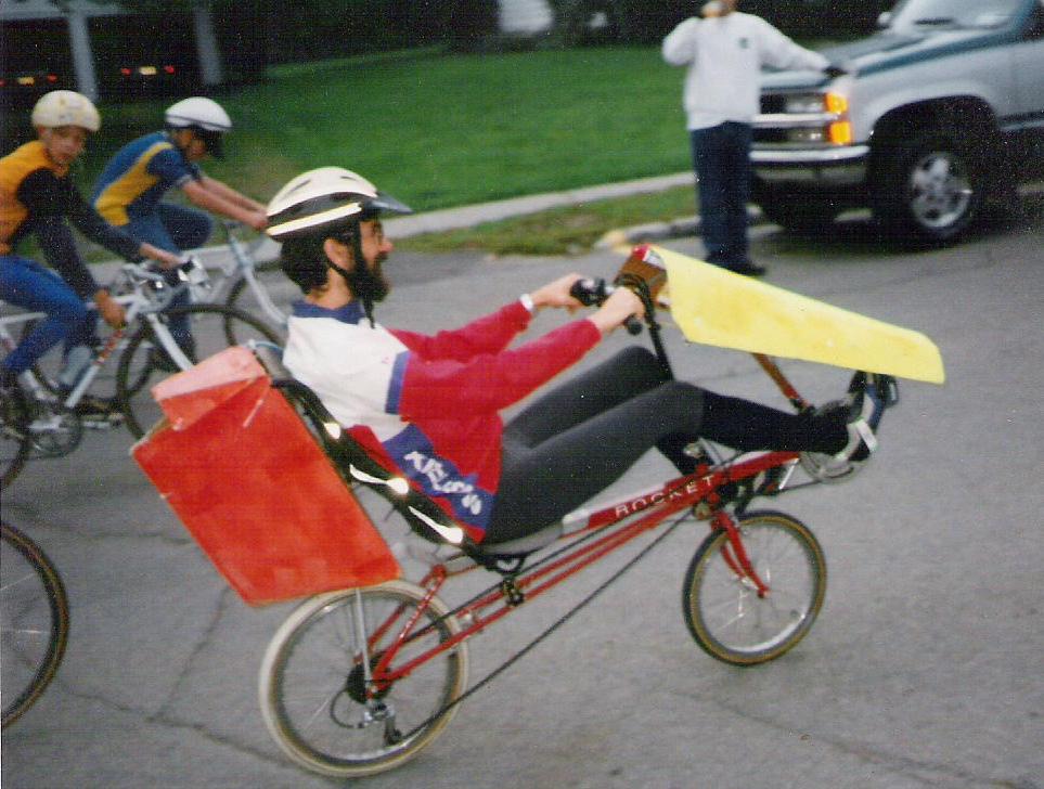 Rans Rocket Recumbent Bike Bicycle Man